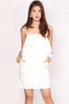 Lilibeth Ruffle Spag Dress In White