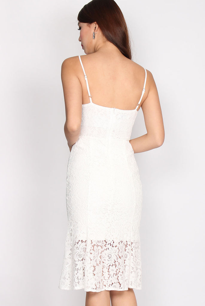 Lorraine Lace Mermaid Dress In White