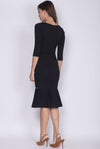 *BACKORDER II* Louella Sleeve Border Mermaid Dress In Black
