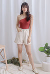 Owena Denim Shorts In Oats