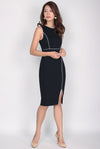 *Restock* Malika Pencil Midi Dress In Black