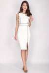 *BACKORDER* Malika Pencil Midi Dress In White