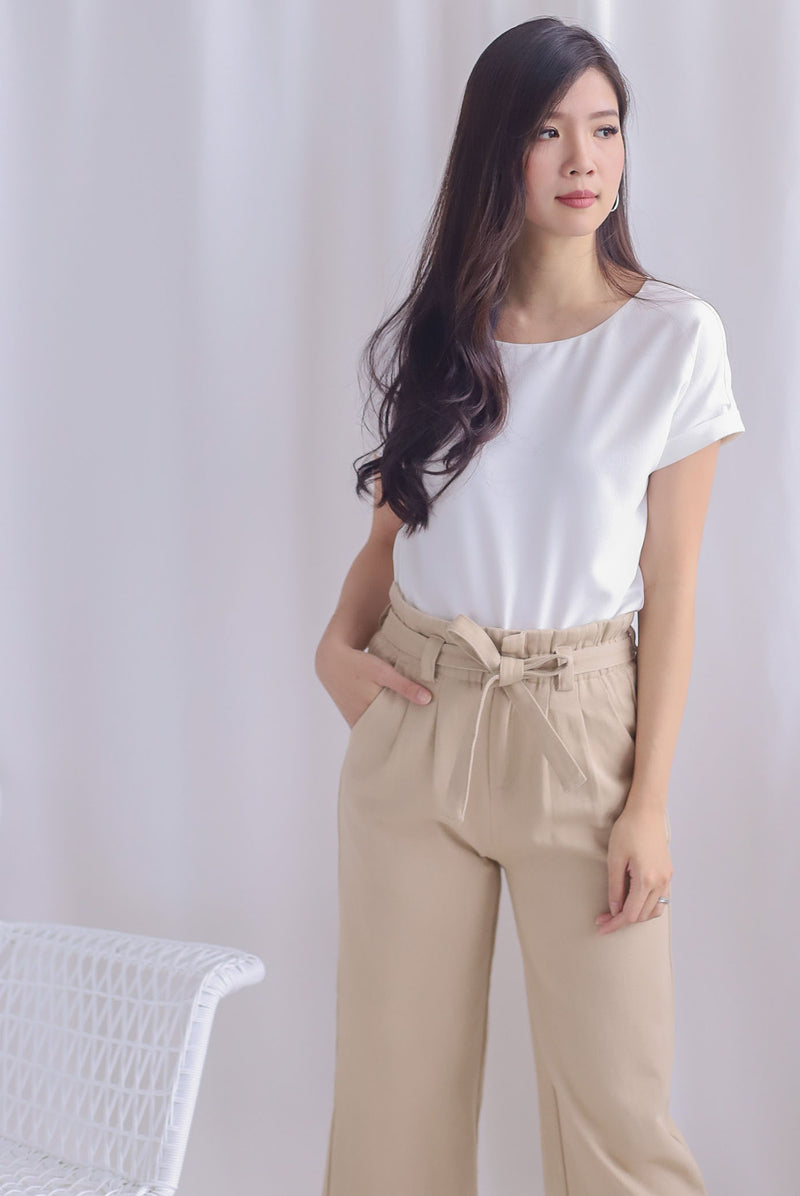 Mamie Basic Box Top In White