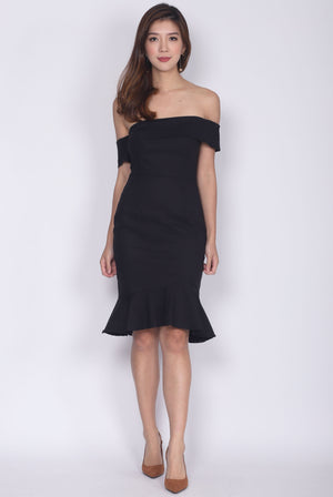 Manuelle Toga Mermaid Socialite Dress In Black