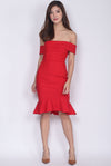 Manuelle Toga Mermaid Socialite Dress In Red