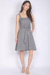 Marci Tweed Tie front Dress