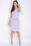 *Premium* Marifel Vest Peplum Dress In Grey