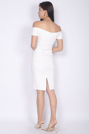 Marissa Off Shoulder Dress In White