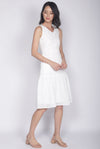 Meadow Eyelet Dress In White