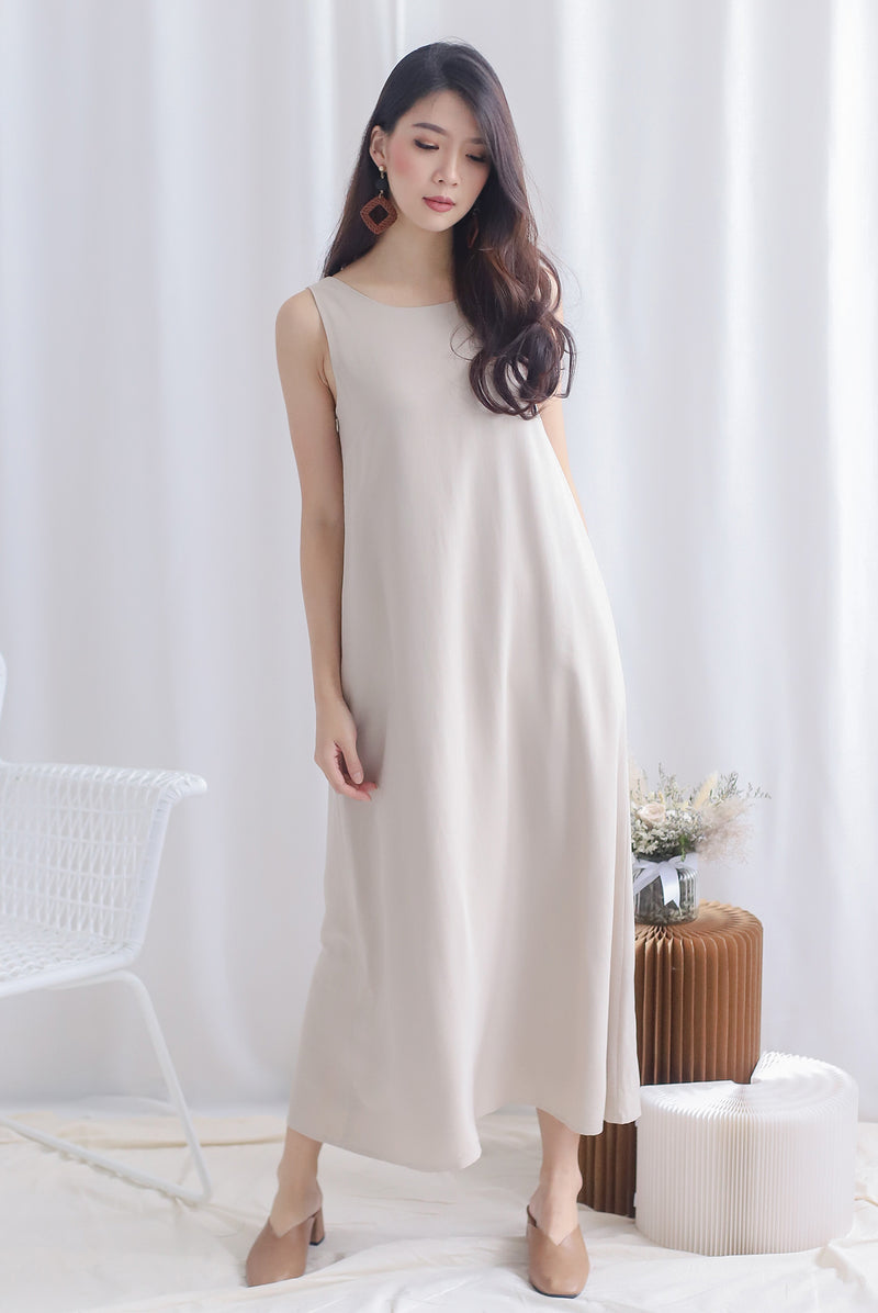 Meira 2 Way Maxi Dress In Oats