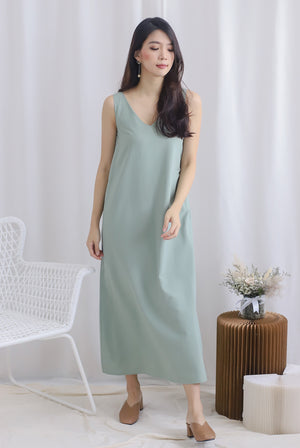 Meira 2 Way Maxi Dress In Sage