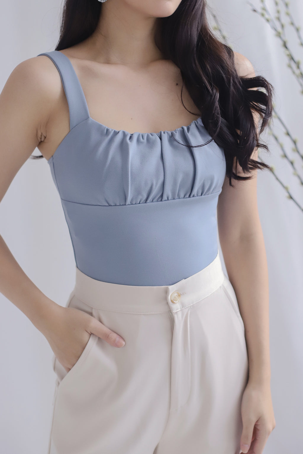 Melodia Bustier Top In Skyblue
