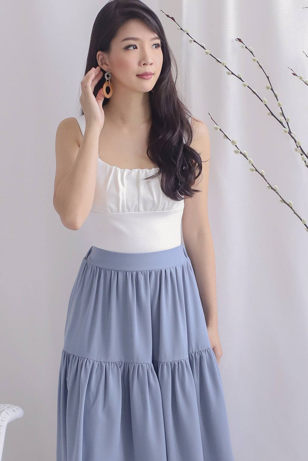 Melodia Bustier Top In White