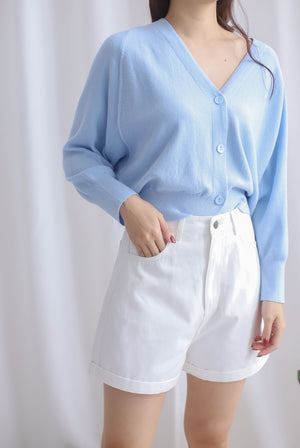 Morlie Batwing Knit Cardigan In Skyblue