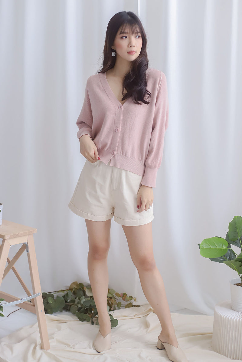 Morlie Batwing Knit Cardigan In Blush