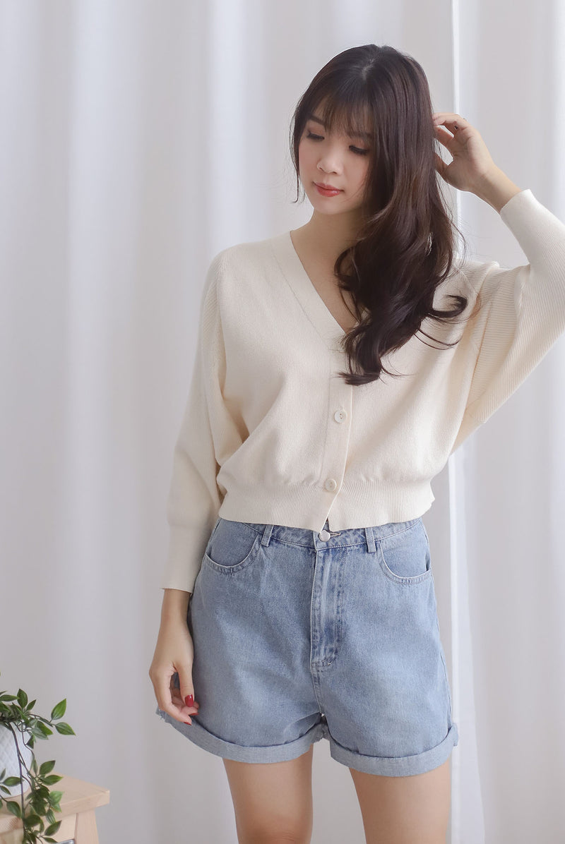 Morlie Batwing Knit Cardigan In Cream
