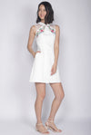 Nalla Embro Cheongsam Dress In White