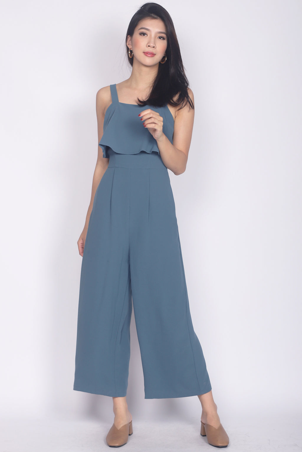 Nattei Tiered Jumpsuit In Blue