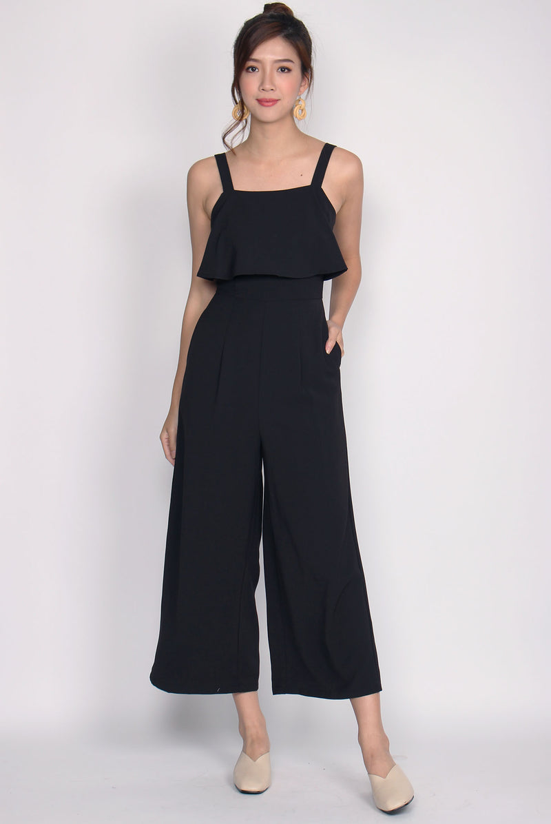 *BACKORDER* Nattei Tiered Jumpsuit In Black
