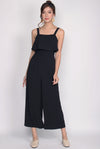 Nattei Tiered Jumpsuit In Black