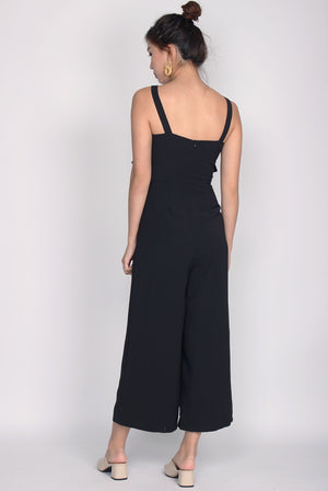*Restock* Nattei Tiered Jumpsuit In Black