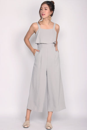 Nattei Tiered Jumpsuit In Grey