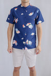 Oliver Abstract Shirt In Navy Blue