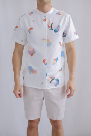 Oliver Abstract Shirt In White