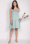 Opel Tiered Babydoll Dress In Mint