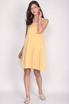 Opel Tiered Babydoll Dress In Yellow