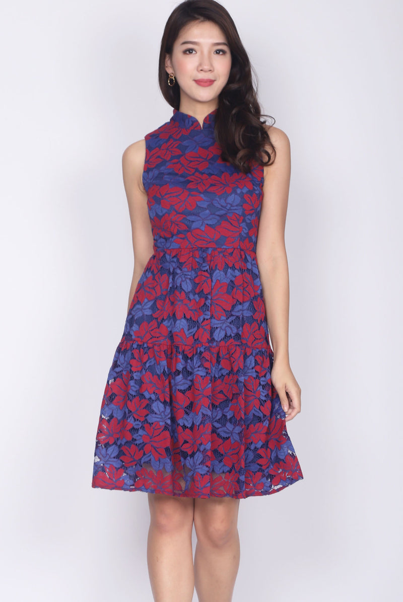 Orietta Lace Cheong Sam Dress