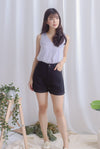 Owena Denim Shorts In Black