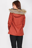 *Restock* Premium* Paddington Fur Coat In Rust