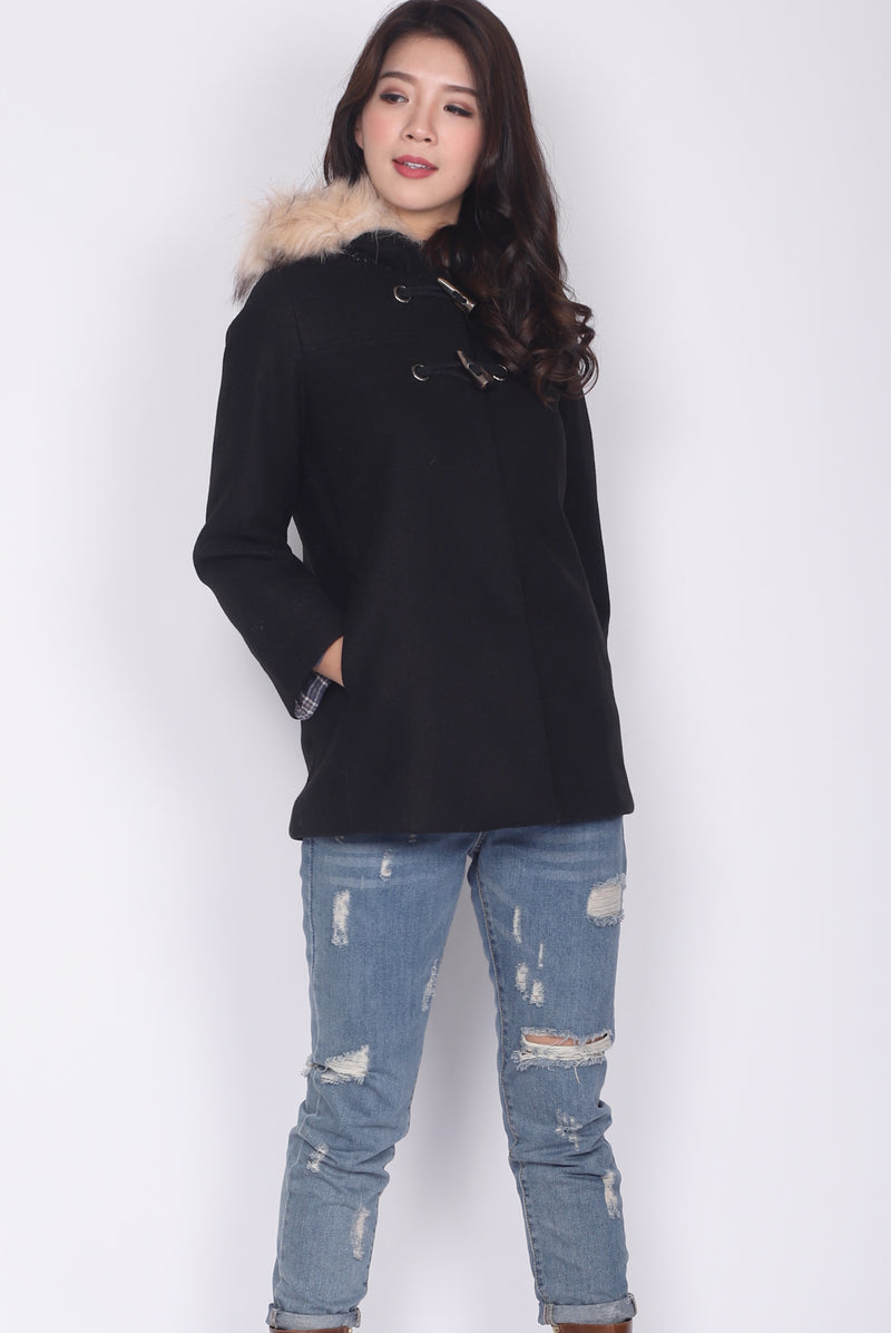 Paddington Fur Coat II In Black