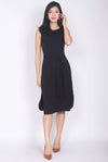 Pandira Curve Slit Cut Dress In Black