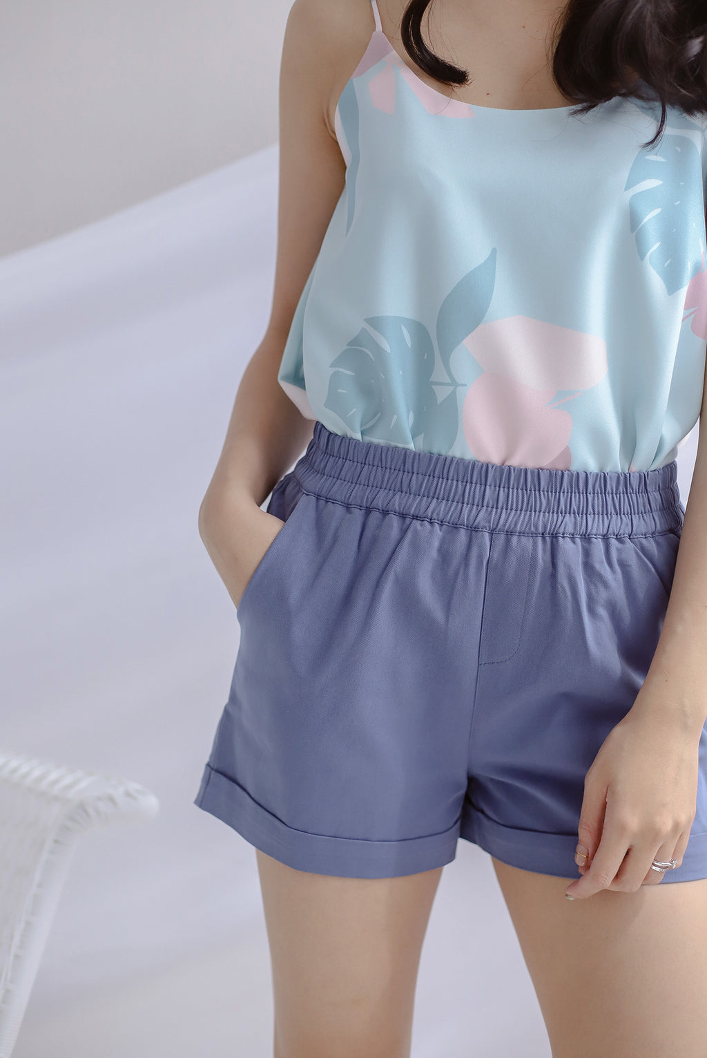 Paradise Casual Shorts In Periwinkle