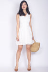 Paxley Eyelet Skater Dress In White
