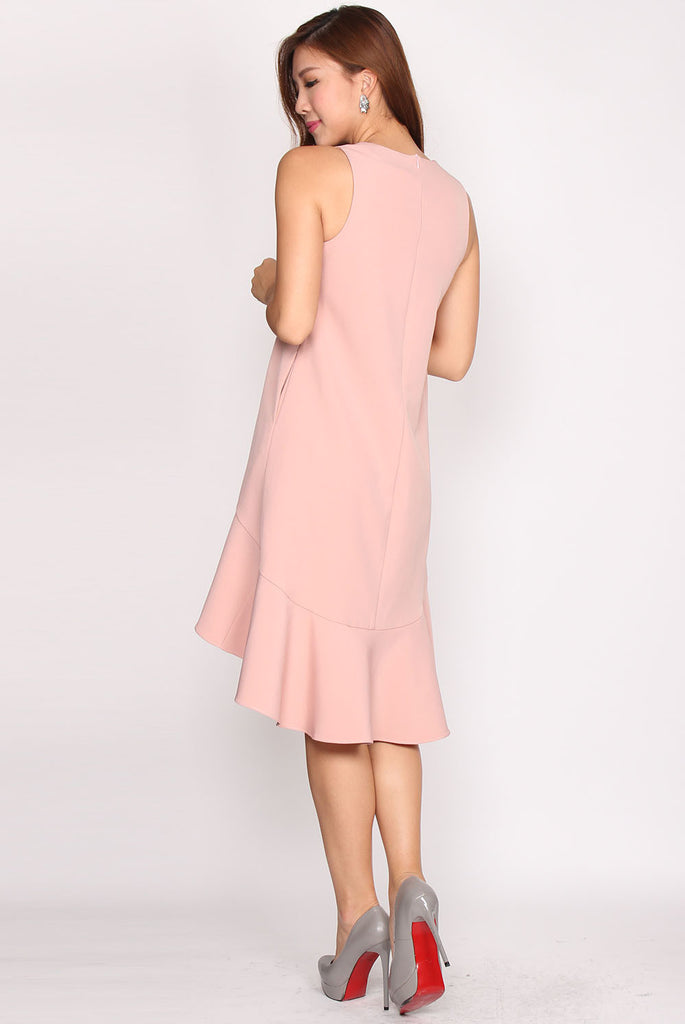 *Restock* Penelope Backdrop Dress In Peach Pink