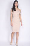 *Premium* Chloe Ruffle Buttons Dress In Wheat