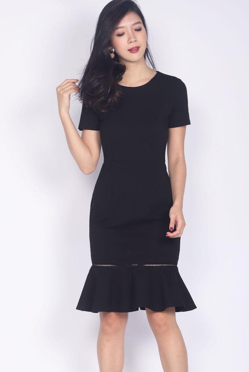 Primrose Mermaid Dress In Black