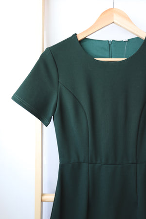 Primrose Mermaid Dress In Forest Green
