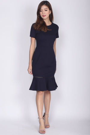 Primrose Mermaid Dress In Navy Blue