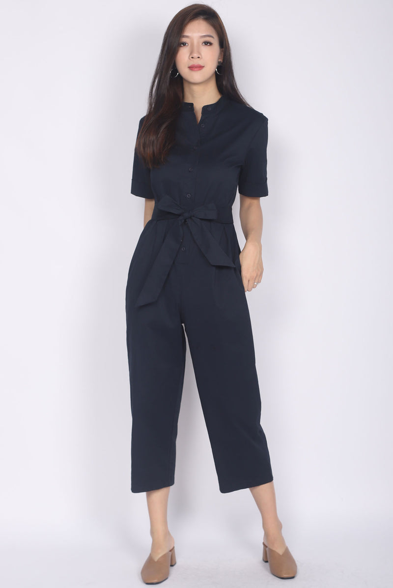 Raquel Utility Jumpsuit In Navy Blue