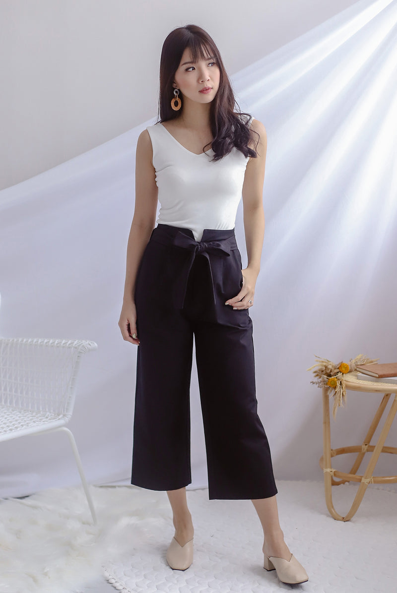Rei Linen Pants In Black