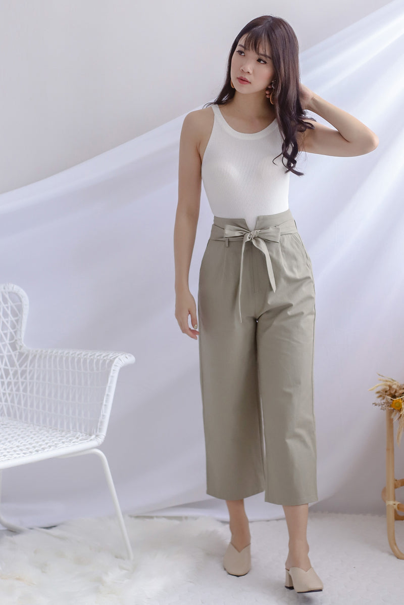 *Backorder* Rei Linen Pants In Sage