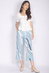 Remilia Abstract Dotty Pants In Jade Blue