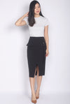 *Premium* Renesme Ring Pencil Skirt In Black