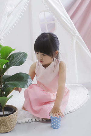 *Kids* Reunion Cheongsam Dress In Pink