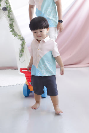 *Kids* Reunion Buttons Shirt In Blue