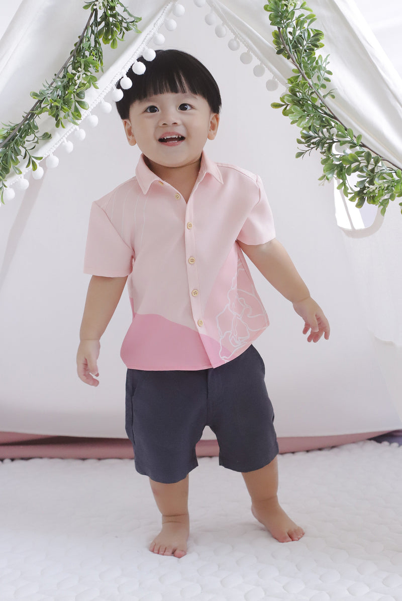 *Kids* Reunion Buttons Shirt In Pink